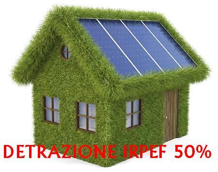Detrazione irpef 50 e fotovoltaico la risposta ufficiale for Detrazione 50
